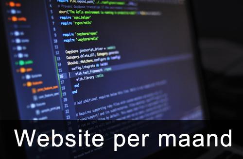website per maand